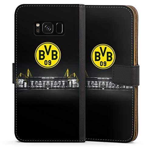 DeinDesign Klapphülle kompatibel mit Samsung Galaxy S8 Handyhülle aus Leder schwarz Flip Case BVB Stadion Borussia Dortmund
