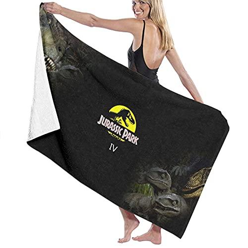 Jurassic Park Toallas de playa ultra absorbentes toalla de baño de microfibra para hombres mujeres niños