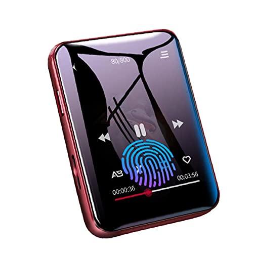 Tuimiyisou MP3 acústica Bluetooth Reproductor de música con 16G de Almacenamiento portátil de Pantalla táctil Completa FM Radio grabadora de música Reproducción de Red
