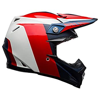 Bell Moto-9 Flex Dirt Helmet  Division Matte/Gloss White/Blue/Red - Large