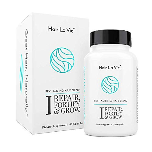 Hair La Vie Revitalizing Blend Hair Vitamins with Biotin, Collagen and Saw Palmetto for Fast Hair Growth for Women and Men - Natural Hair Loss Supplement for Thinning Hair