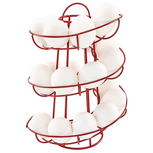 Sarplle Eierspender spiralförmiges Eier-Ständer für bis zu 24Eier