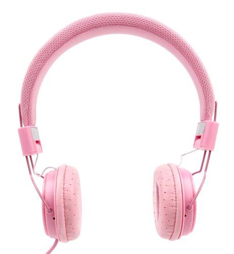 DURAGADGET Auriculares De Diadema Color Rosa para Smartphone Huawei P8 Lite | Alcatel A7 XL | A7 | Alcatel One Touch 1016D | Brondi Amico Semplice | Cat S41 Combinar con Su Móvil!