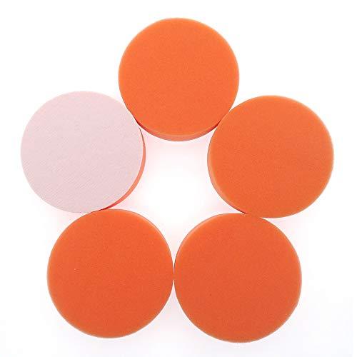 XKMY Almohadilla de esponja de pulido de 2 a 5 pulgadas, almohadilla de fregado para encerar, esmalte de sellado, todo propósito para limpieza de coche, baño y cocina (color: 10 cm plano 5 piezas)