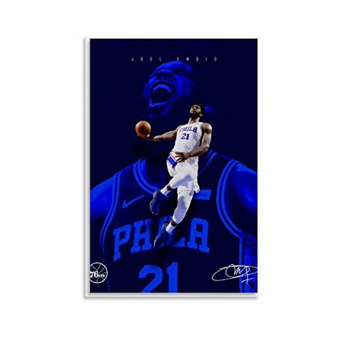 GUCII Cuadro decorativo de pared de baloncesto, lienzo para pared, sala de estar, póster, dormitorio, 50 x 75 cm