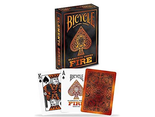 Naipes Heracli Fournier S.A- Bicycle Fire 52/5000 Mazzo di Carte di Raccolta di Ispirazione Vintage, Colore Arancione, Poker 62.5x88 mm, 1034622
