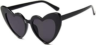 Heart Shaped Sunglasses for Women, Cat Eye Mod Style Retro Kurt Cobain Glasses