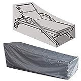 Kaxich, copertura impermeabile per lettino da giardino per esterni, copertura di protezione per mobili da cortile, 208 x 76 x 41/79 cm (lunghezza x larghezza x altezza).