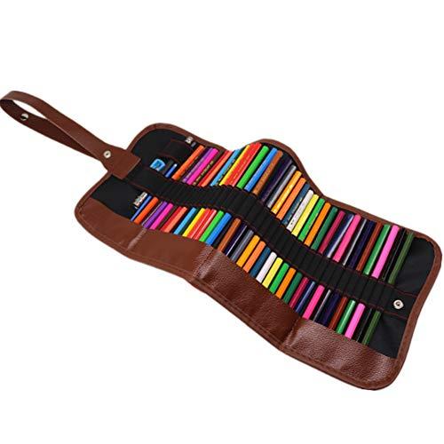 Tekening Gekleurde Potloden Kit,Schets Water Oplosbaar Gekleurde Potlood Set met Roll Bag en Slijpers, Draagbare Houten Kunstgereedschap voor Artiesten, Beginners en Student(36 stuk)