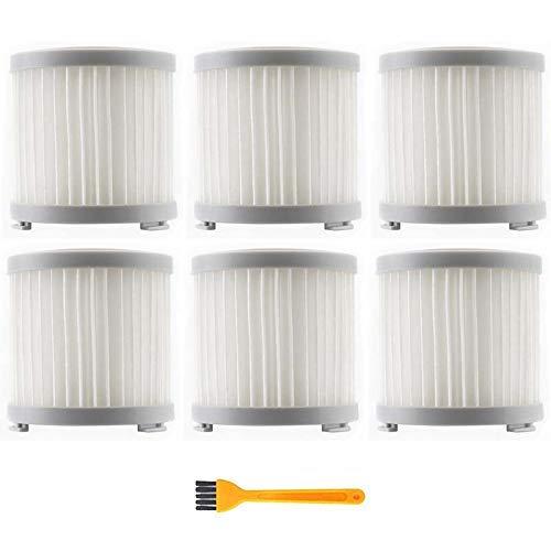 NICERE Recambios de aspirador 7 unids filtro HEPA para Jimmy JV51/53 Handheld inalámbrico aspirador HEPA filtro gris reemplazo