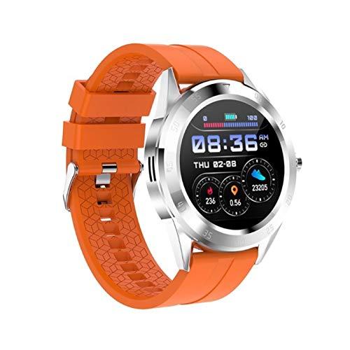 XUEMEI Monitor De Presión Arterial De Frecuencia Cardíaca Impermeable Rastreador Inteligente (Color : Orange)