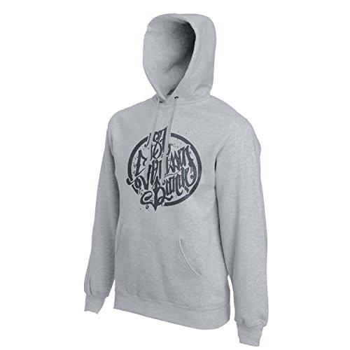 187 Straßenbande - Logo Hoodie grau/schwarz (L)