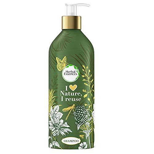 Herbal Essences Champú Botella Ecológica de Aluminio Rellenable Con Aceite De Argán De Marruecos Repara , 430 ml