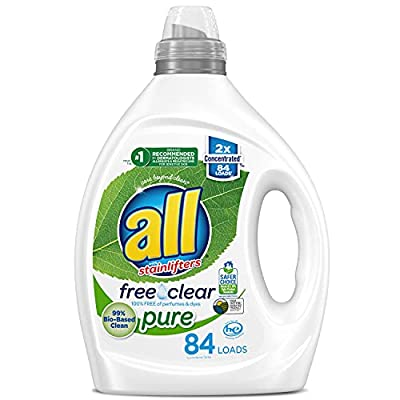 All Liquid Laundry Detergent, Free Clear Pure, 99% Biobased