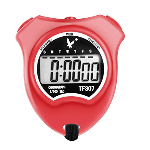LEAP Professional Digital Sports Stopwatch Timer Shockproof Stopwatch with Extra Large Number Display, Great for School Community or Personal, Track Field Events and Swim Events