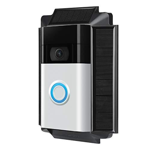 Wasserstein Solar Charger Mount for Ring Video Doorbell 1 (2nd Gen, 2020 Release)