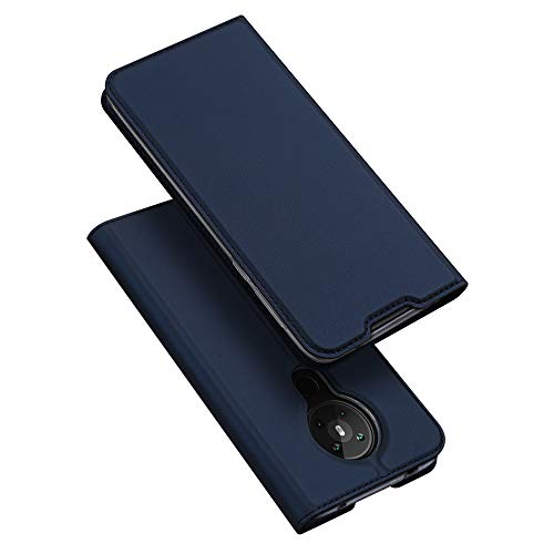 DUX DUCIS Hülle für Nokia 5.3, Leder Klappbar Handyhülle Schutzhülle Tasche Hülle mit [Kartenfach] [Standfunktion] [Magnetisch] für Nokia 5.3 (Blau)