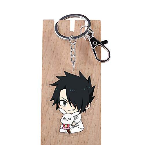 ALTcompluser Anime The Promised Neverland Karabiner Schlüsselanhänger Doppelseitig Schlüsselbund Acryl Anhänger, Dekoration für Tasche/ Rucksack / Mäppchen( Ray)