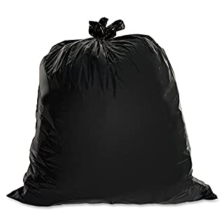 "Genuine Joe GJO01535 Heavy Duty Low-Density Puncture Resistant Trash Bag, 60 gallon Capacity, 56"" Length x 39"" Width x 1.50 mil Thickness, Black (Box of 50) (B000GLQAES) 