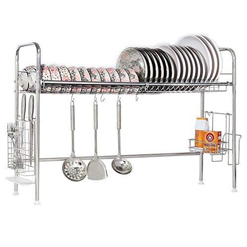 Nandae Escurridor Platos sobre el Fregadero Escurreplatos de Acero Inoxidable para Cocina Longitud Ajustable