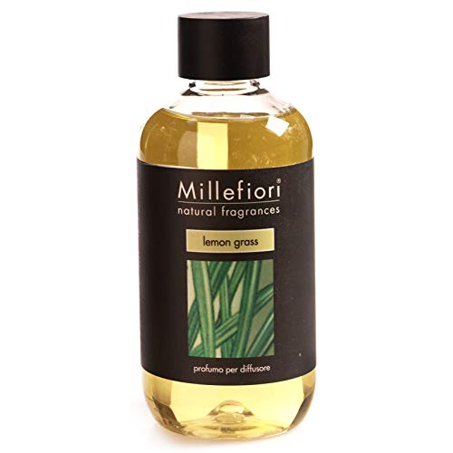 Millefiori Natural Ricarica per diffusore di fragranza per ambienti 500ml fragranza Lemon Grass