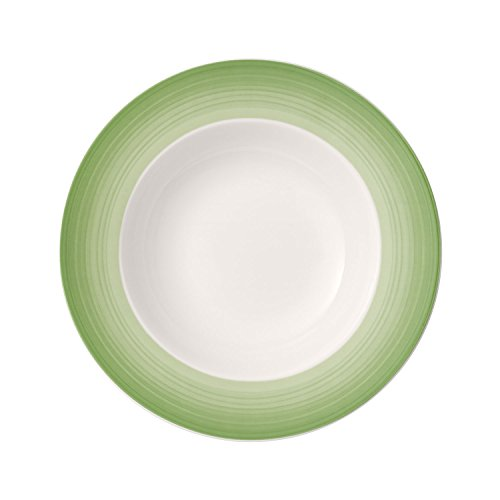 Villeroy & Boch Colourful Life Green Apple Assiette creuse, 25 cm, Porcelaine Premium, Blanc/Vert