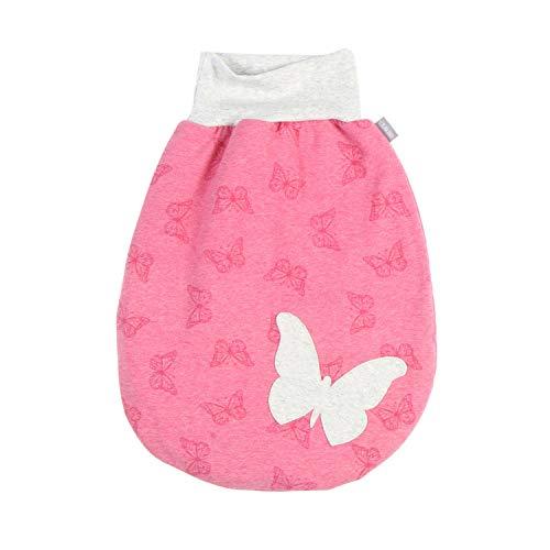 Lilakind Saco de dormir para bebé con diseño de mariposas, color rosa y azul, tallas S-XXL, fabricado en Alemania Con forro rosa. 70 cm lang