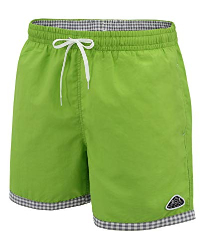 Mount Swiss hochwertige Männer Badehose Lukas mit Sun-Protection I Moderne Badeshorts Farbe pini, Gr. S
