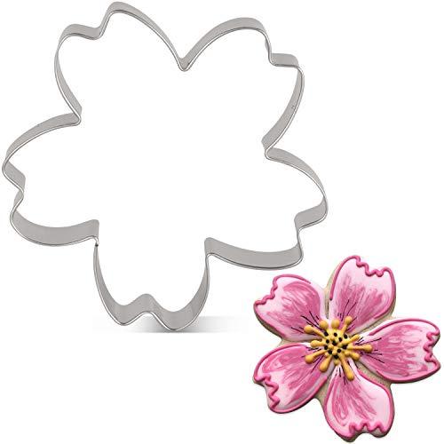 KENIAO Frühling Blumen Kirschblüten Ausstechformen - 9,4 x 9,4 cm - Edelstahl