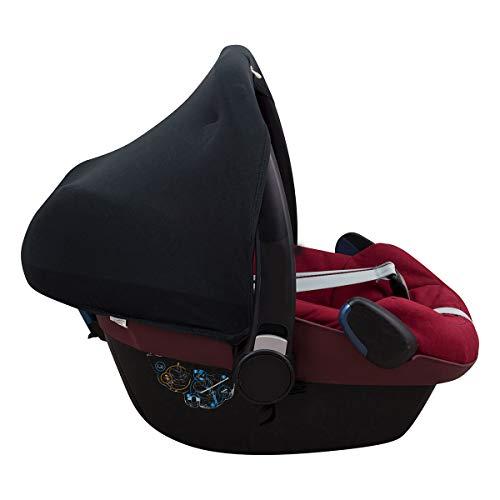 JJANABEBE Sonnenverdeck kompatibel mit Maxi Cosi Bebe Confort Pebble (Black Series)