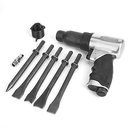 Taladro neumático de aire, martillo neumático profesional Pala industrial redonda Herramienta neumática de pala con perilla de control de velocidad para muebles, hardware
