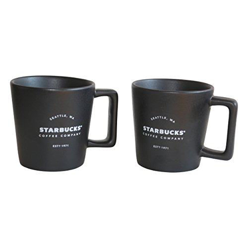 Starbucks Espresso Tasse Royal Black 1971 Est Mug Espresso Set Demitasse (2)
