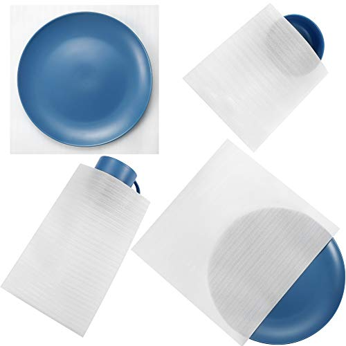 Foam Pouches & Foam Wrap Sheets - 4 Sizes 80 Count - Moving / Shipping Foam Packing Sheets/Pouches/Wraps Dish Packing Supplies, Cushioning Padding Foam for Packaging Dishes/China/Mugs/Cups