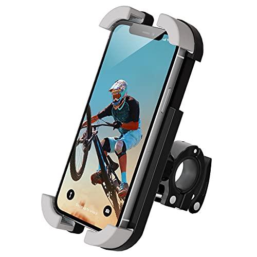 片手で操作できる自転車ホルダー、ロードバイクワンタッチスマートフォンホルダー、クロスバイクスマートフ...