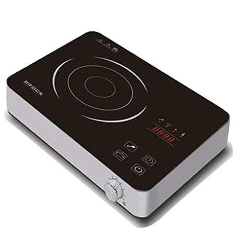 Brock Electronics Hp-2021-Gy inductiefornuis, draagbaar, 1800 W, 20 kg, 0 decibel, roestvrij staal, zwart