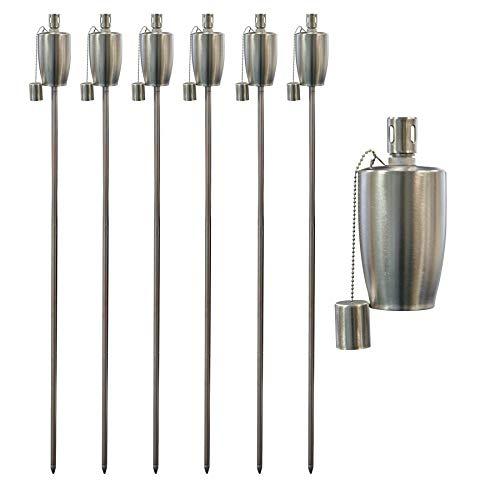 Garden Fire Torch - Oil Paraffin Lantern - 146 cm Barrel Design - Pack of 6