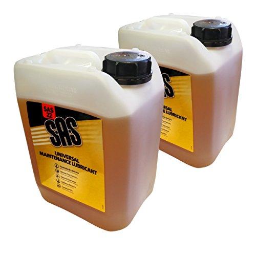 Ss (Pack de 2 5 l SAS22 lubricante de Mantenimiento Universal para penetraing Lube con PTFE