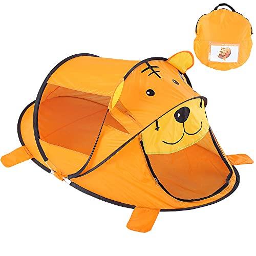 Oncpcare Parque portátil para mascotas y gatos, tigre de cara suave para perros, parque infantil de malla para interiores y exteriores, para perros pequeños