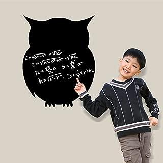 Black Owl Blackboard Writing Board Wall Decal Home Sticker PVC Murals Vinyl Paper House Decoration WallPaper Living Room Bedroom Kitchen Art Picture DIY for Children Teen Senior Adult Nursery Baby