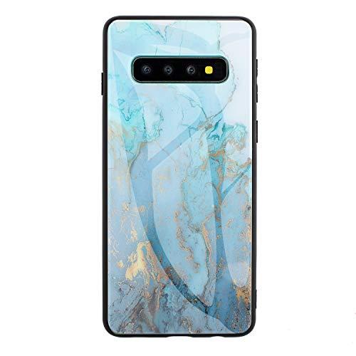 2Buyshop Funda Compatible para Samsung Galaxy S10 5G Case marmol Negro Silicona Flexible Bumper Teléfono Caso Cover for Samsung Galaxy S10 5G