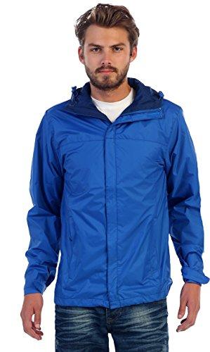 Gioberti Men's Waterproof Rain Jacket, Royal Blue, XXL