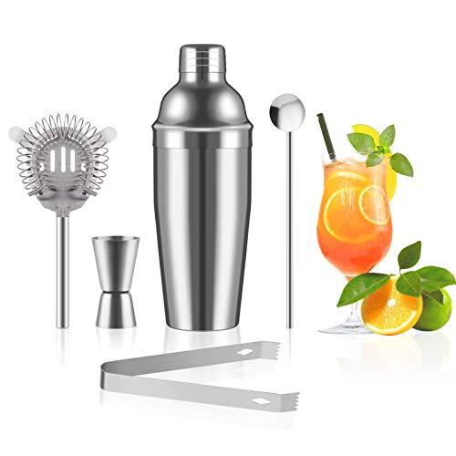 Richaa Cocktail-Shaker-Set, 5-teilig,...