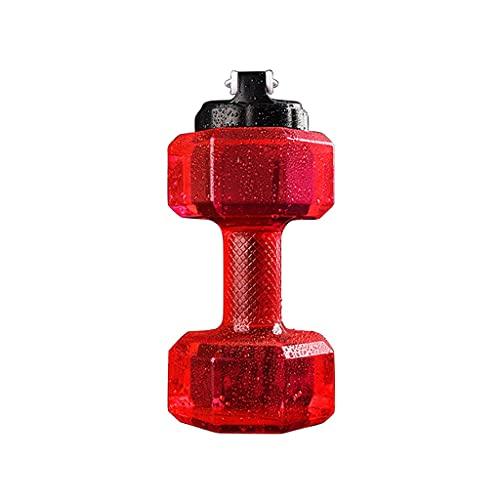 SFF Pesas Botella de Agua Mancuernas Mancuernas hexagonas con Mango Antideslizante para el Gimnasio para el hogar Formación de Entrenamientos Aptitud Física (Color : Red)