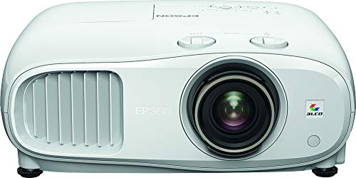 Epson EH-TW7100 3LCD, 4K PRO-UHD, 3000 Lumens, 500 Inch Display, Wide Lens Shift Range, Home Cinema, Streaming and Gaming Projector - White