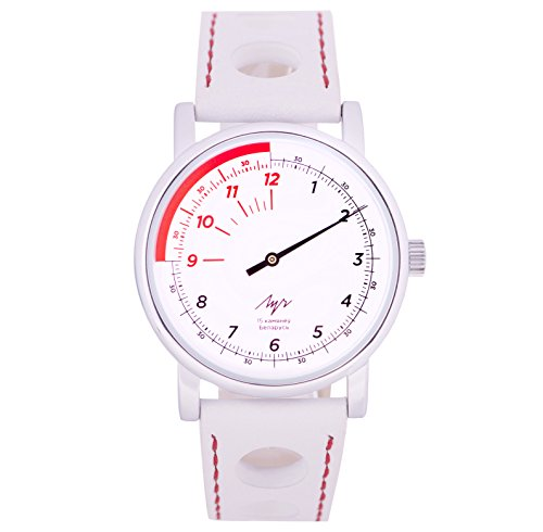 LUCH Wrist Watch One Hand Collection Speed Mechanical Movement 1801.1H White Dial