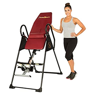 Fitness Reality 790XLT UL Safety Certified High Endurance Inversion Table with Lower Back Cushion