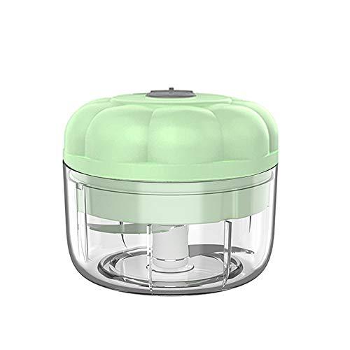 Mini picadora eléctrica inteligente Mini robot de cocina portátil resistente al ajo, con cable USB para calabaza de ajo, jengibre y chile (100 ml, verde)