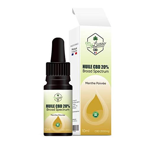 Aceite de cáñamo broad spectrum 2000mg. Auténtico aceite de CBD de alta calidad fabricado en PARIS. Abundantes beneficios : calmante, reduce la ansiedad, estimula el sueño, alivia el dolor