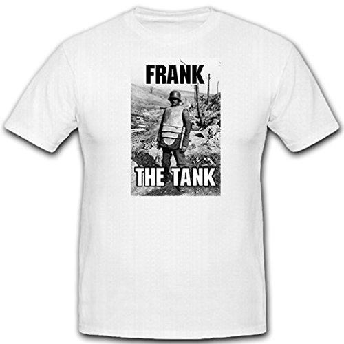 FRANK The Tank_Deutscher Soldat Brustpanzer Stahlhelm M16 - T Shirt #12996, Größe:XXL, Farbe:Weiß