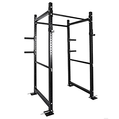 """OrangeA 36"""" Deep T-3 Series Power Rack Squat Heavy Duty Power Cage Multi-Functional Deadlift Barbell Cage Bench Stand"""